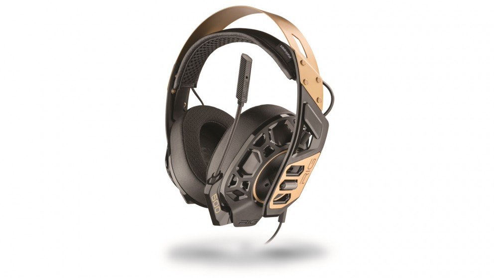 RIG 500 PRO Gold High-Resolution Gaming Headset for PC