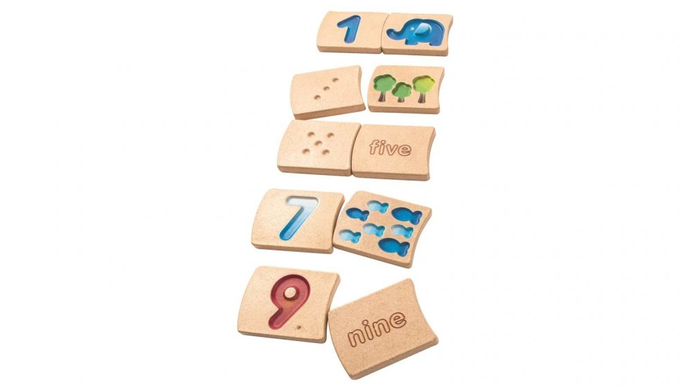 PlanToys Numbers 1-10 Tiles