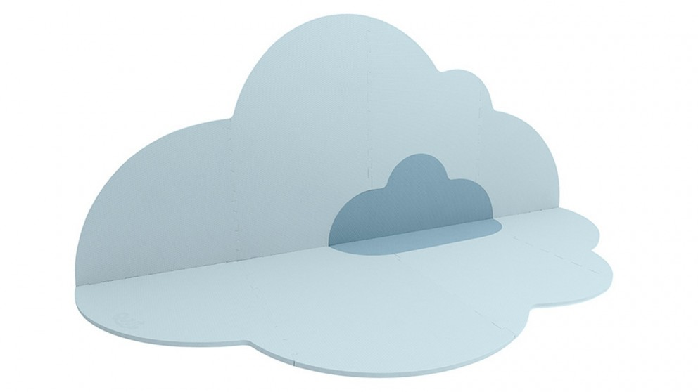 Quut Large Head in the Clouds Kids/Baby Playmat - Dusty Blue