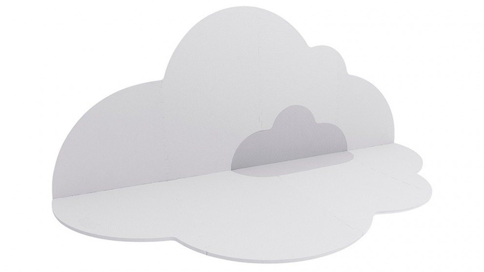Quut Large Head in the Clouds Kids/Baby Playmat - Pearl Grey