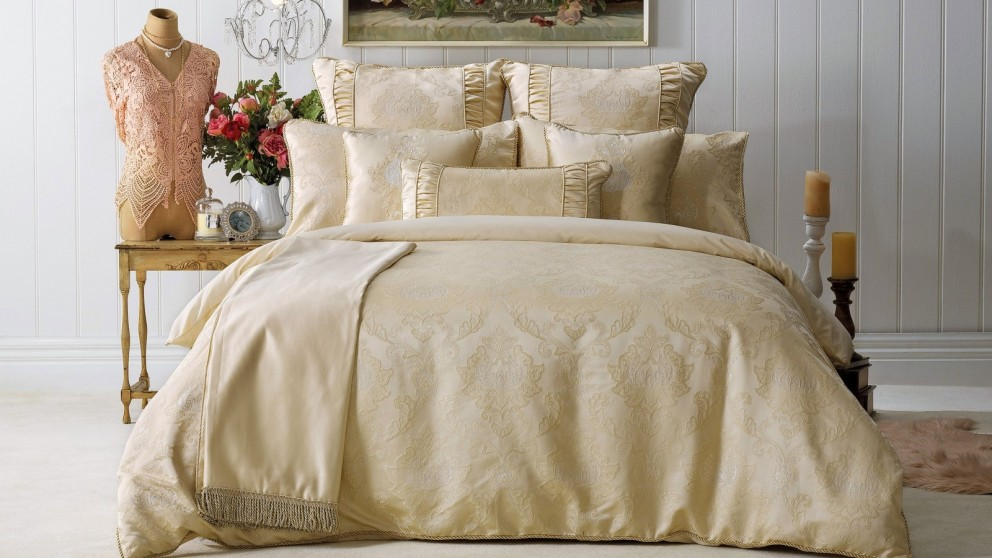 Annabelle Gold King Quilt Cover Set
