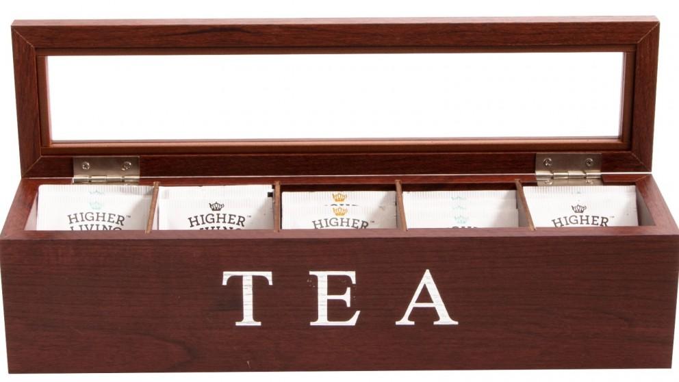Cooper & Co. Wood Tea Box 5 Compart - Brown