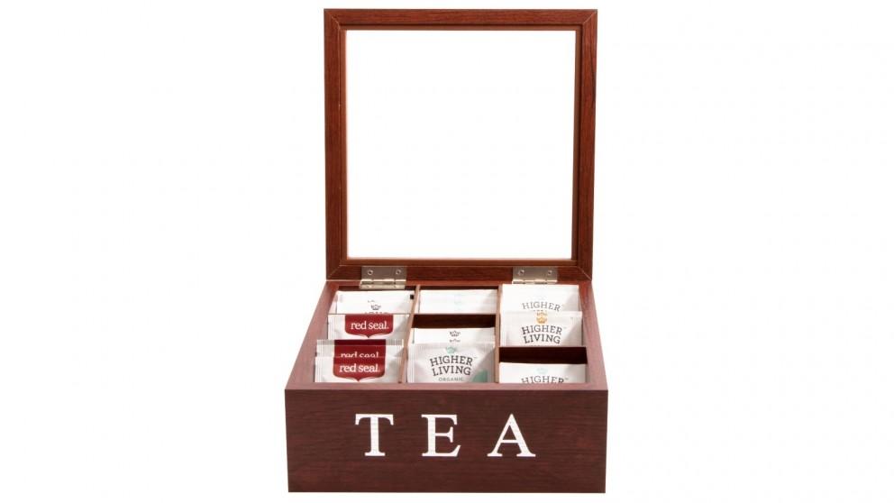 Cooper & Co. Wood Tea Box 9 Compart - Brown