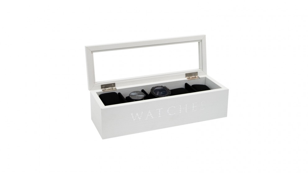 Cooper & Co. Wood Watch Box 5 Compart - White