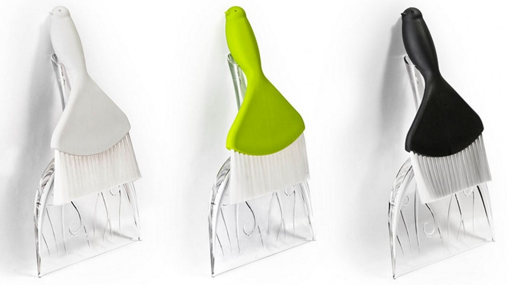 Qualy Sweepie Sparrow Broom & Dustpan