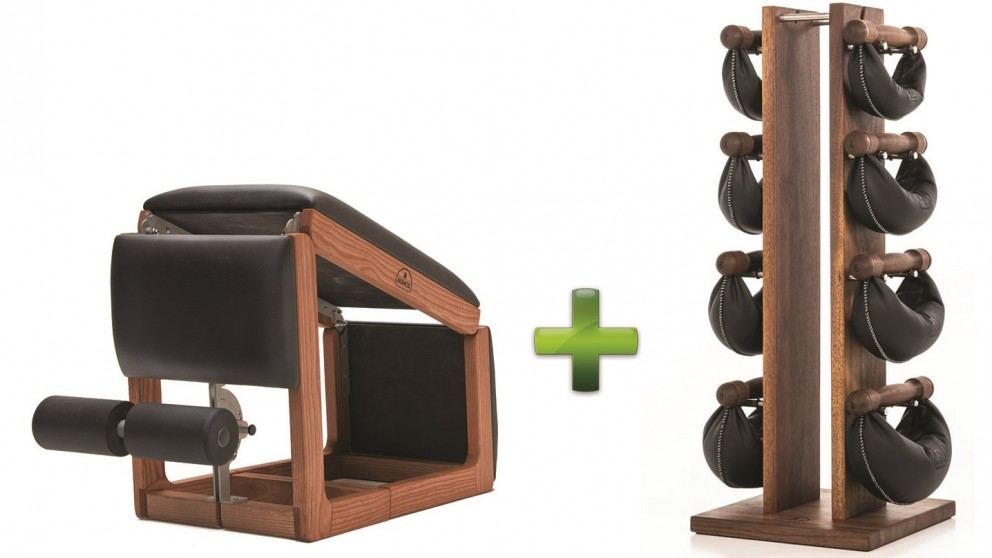 NOHrD TriaTrainer Club Bench and Swing Bell Weight Tower Combo Pack