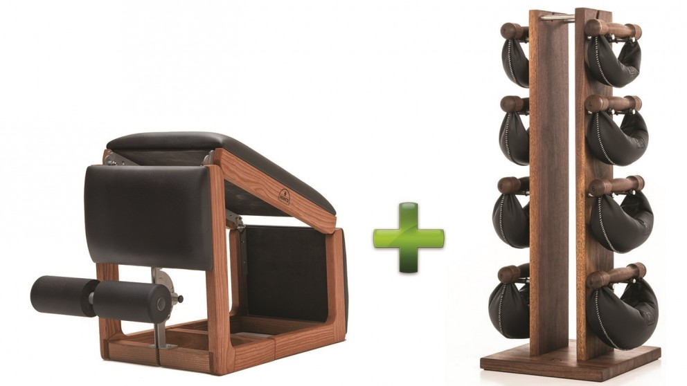NOHrD TriaTrainer Cherry Bench and Swing Bell Weight Tower Combo Pack