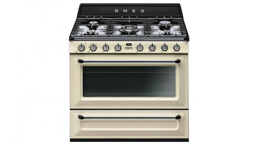 Smeg 90cm Freestanding Gas/Electric Cooker - Cream