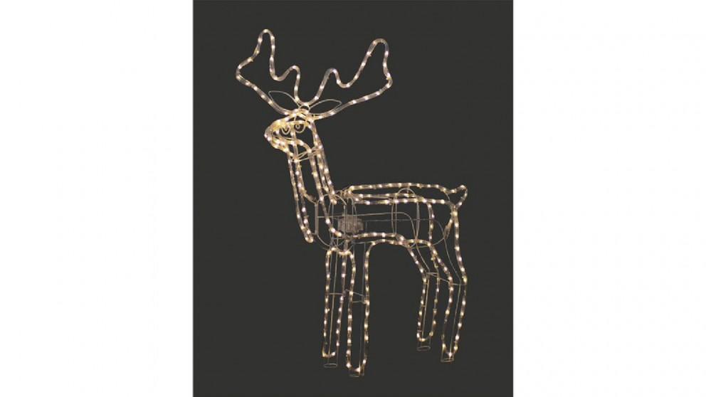 Lexi Lighting 3D Illuminated LED Reindeer with Motor - Warm White