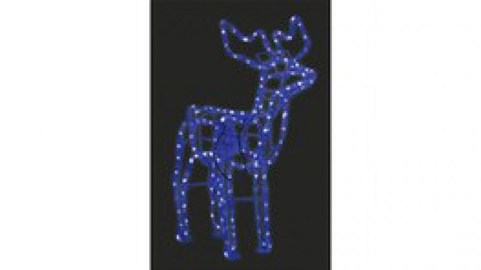 Lexi Lighting 3D Illuminated LED Reindeer with Motor - Blue