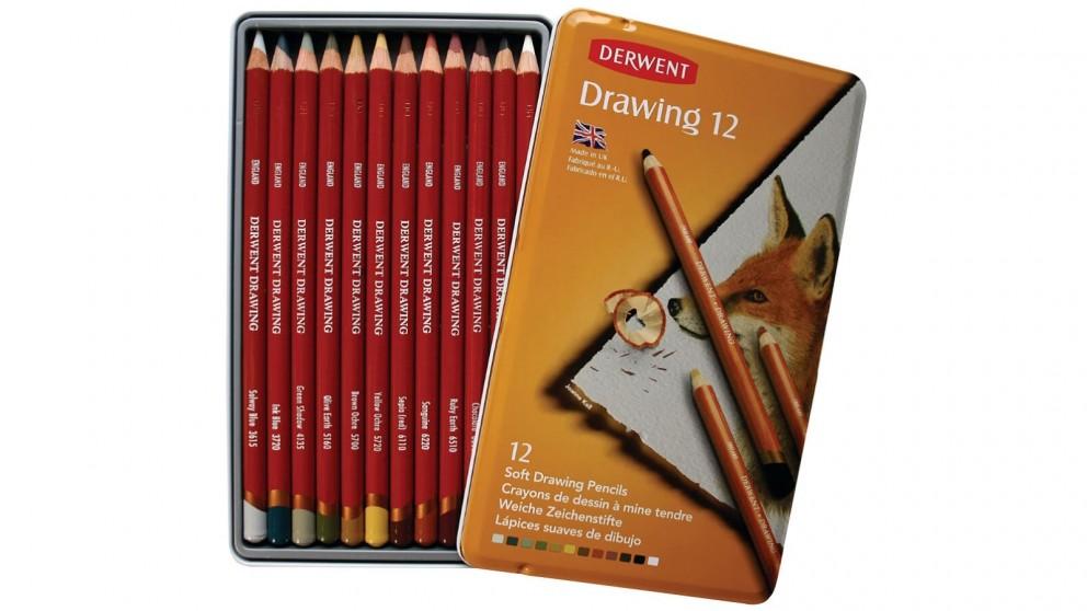 Derwent 12-Piece Academy Drawing Pencils Tin Set