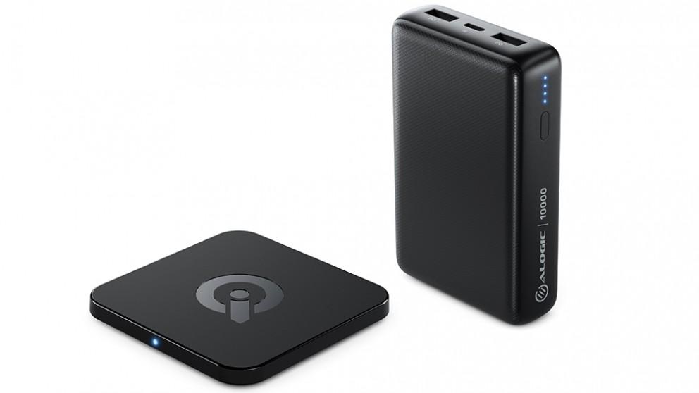 Alogic 10000mAh Power Bank & 5w Wireless Charging Kit Combo Pack