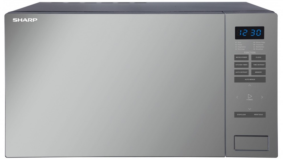Sharp 1000w Mirror Microwave Oven - Black
