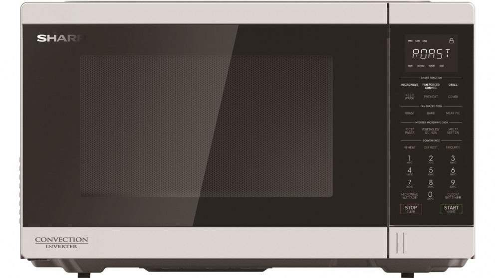Sharp 1100W Convection Microwave Oven with Grill - White