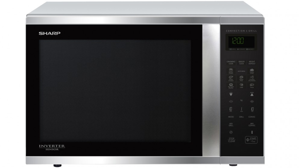 Sharp 1000W Large Convection Microwave Oven - Stainless Steel