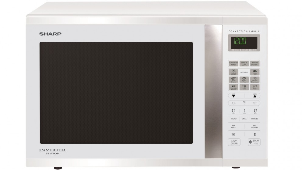 Sharp 1000W Large Convection Microwave Oven - White