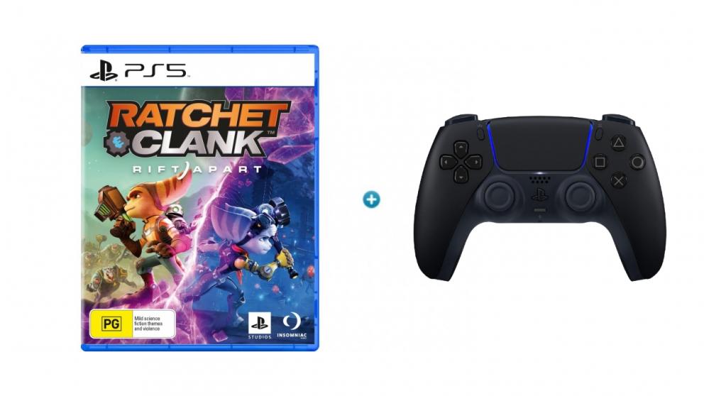 Ratchet & Clank Rift Apart with PlayStation DualSense Wireless Controller - Midnight Black Bundle