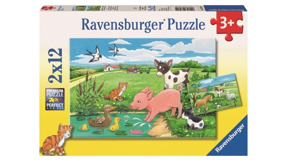 Ravensburger 2x12 Piece Baby Farm Animals Jigsaw Puzzle