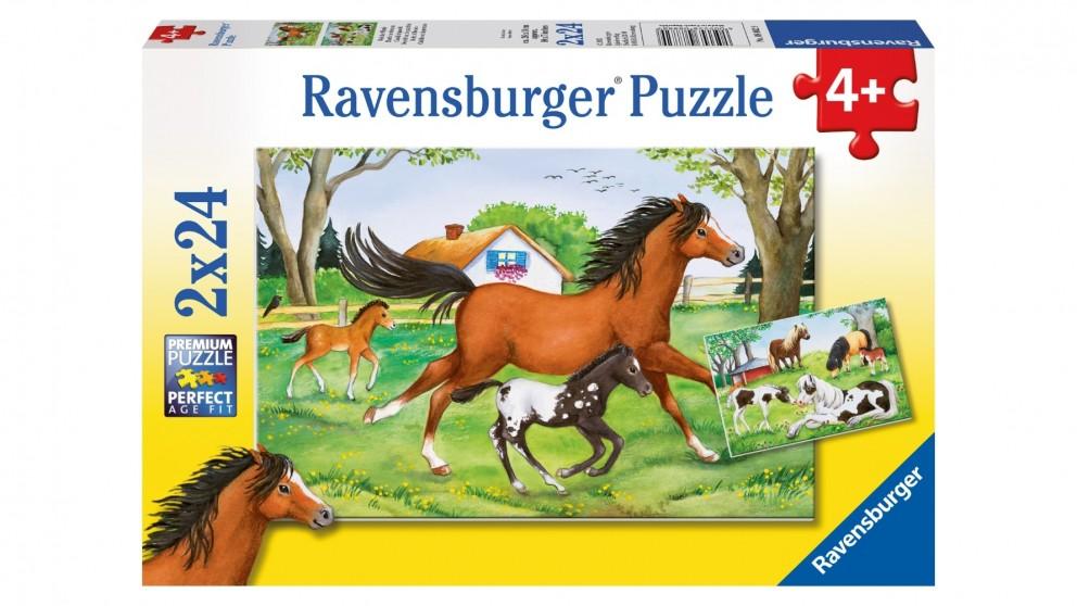 Ravensburger 2x24-Piece World of Horses Jigsaw Puzzle