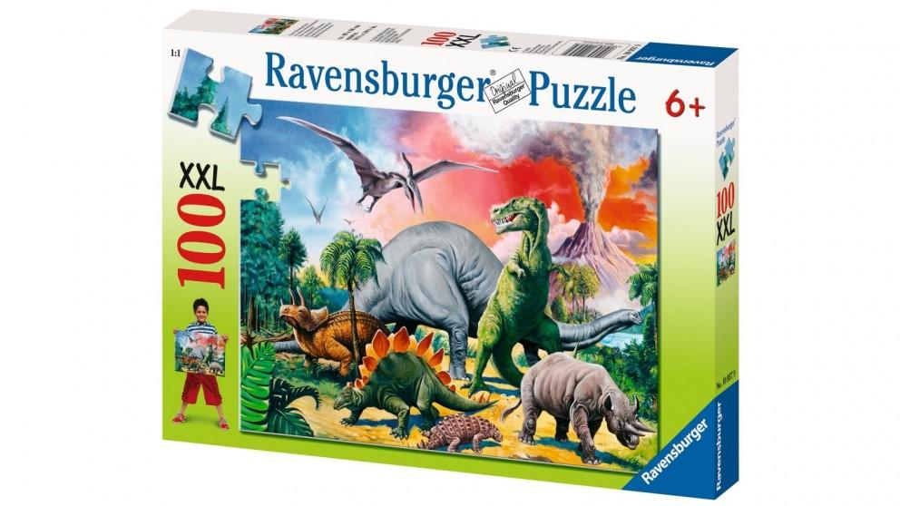 Ravensburger 100 Piece Among the Dinosaurs Jigsaw Puzzle