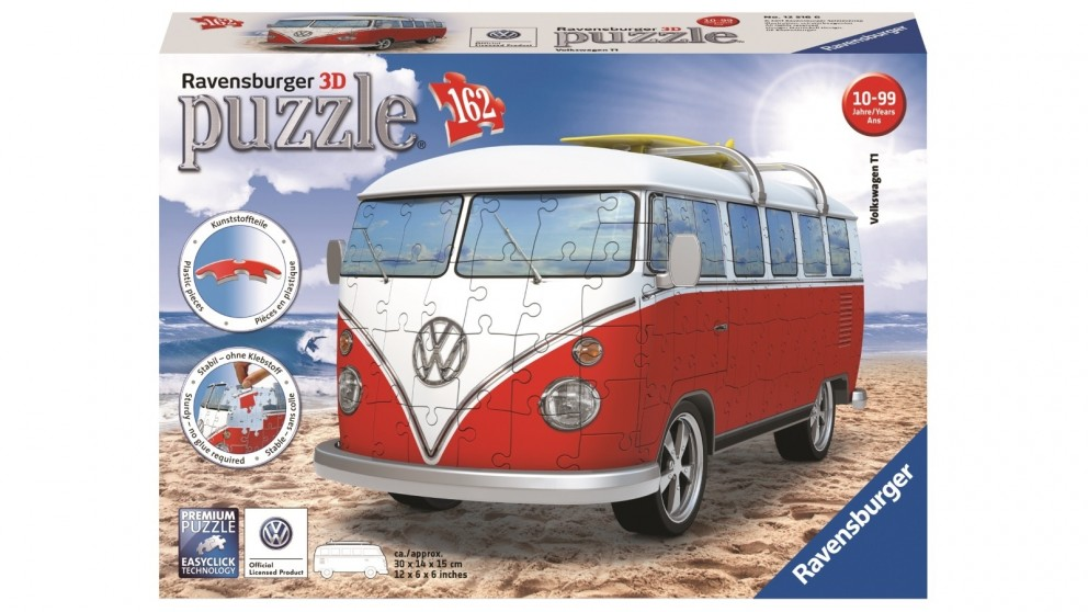buy ravensburger 162 piece vw kombi bus 3d puzzle harvey. Black Bedroom Furniture Sets. Home Design Ideas
