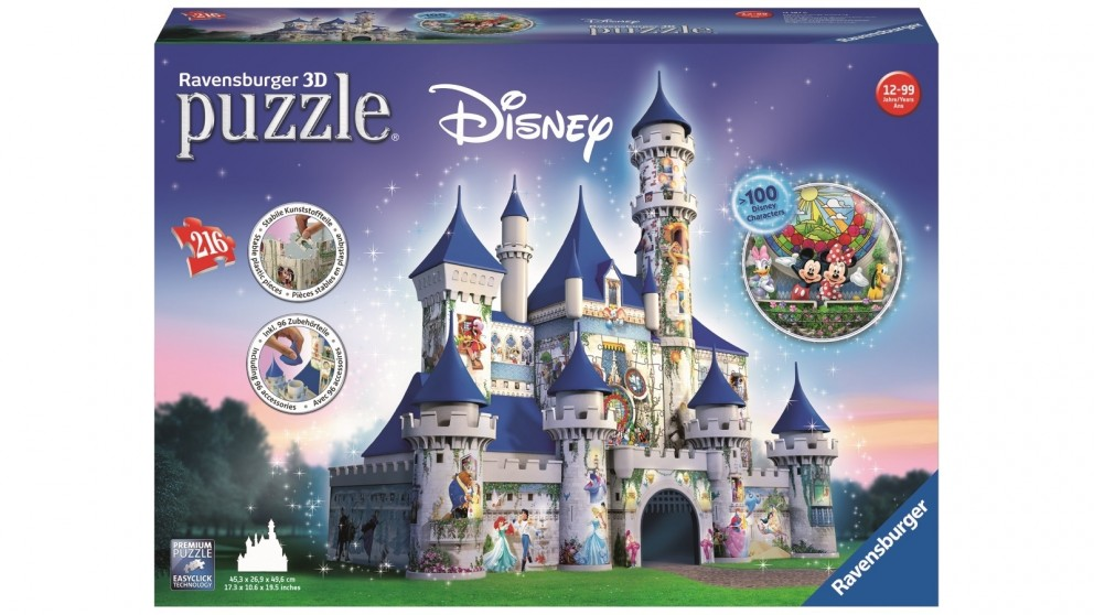 Ravensburger 216 Piece Disney Castle 3D Puzzle Building Jigsaw Puzzle