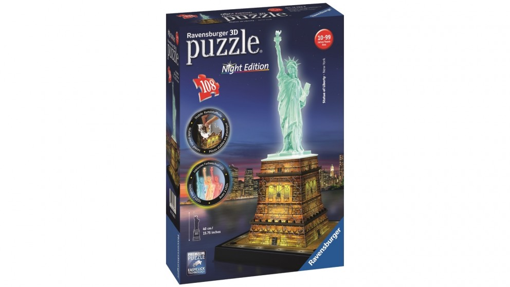 Ravensburger Statue of Liberty at Night 3D 216 Piece Jigsaw Puzzle