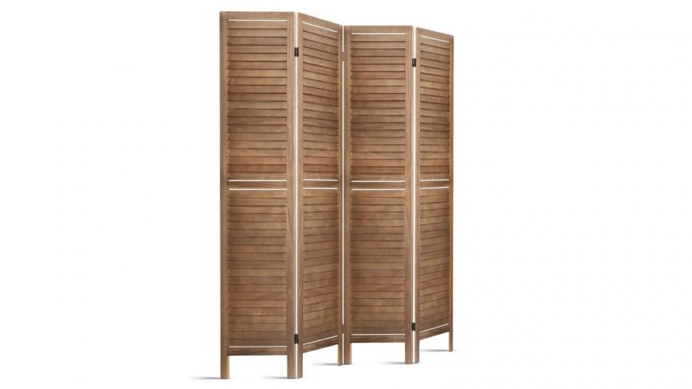 Artiss 4 Panel Room Divider Wood - Brown