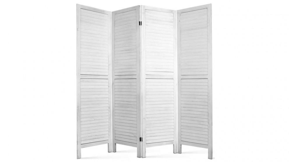 Artiss 4 Panel Room Divider Wood - White