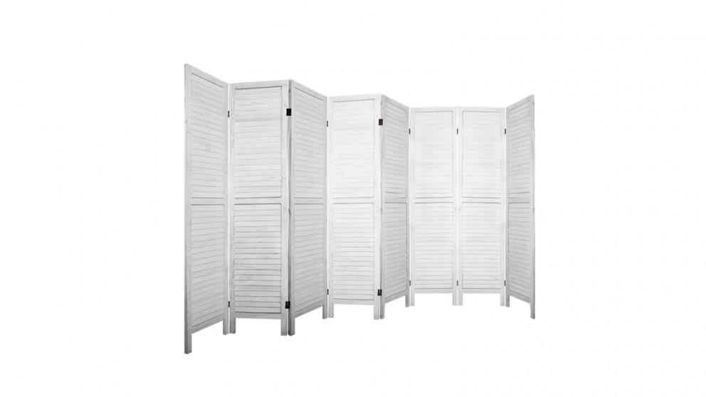 Artiss 8 Panel Room Divider Wooden - White
