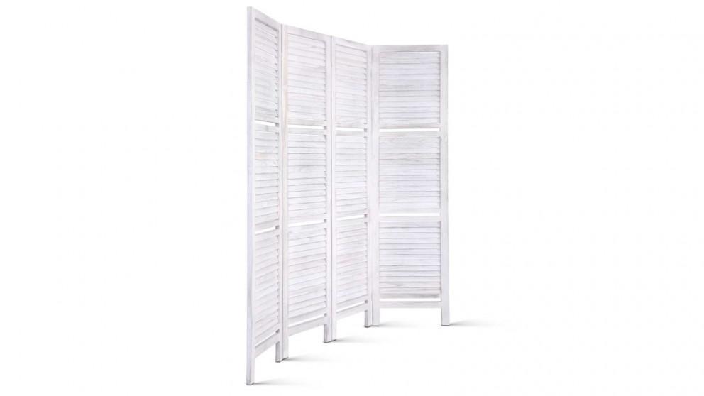 Artiss 4 Panel Room Divider Shelf - White