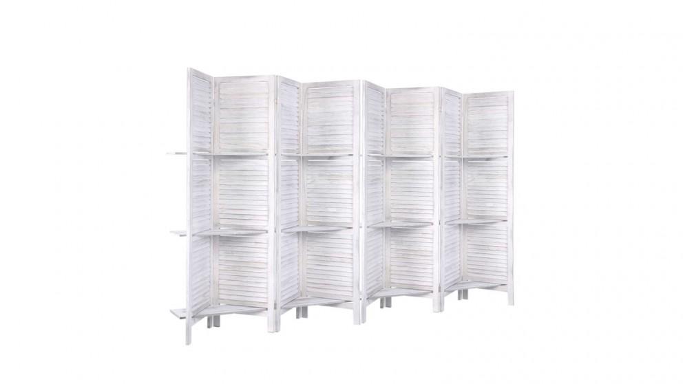 Artiss 8 Panel Room Divider Shelf - White