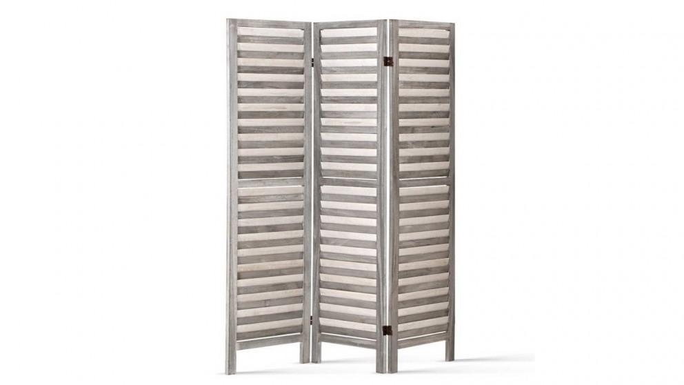 Artiss 3 Panel Room Divider Wooden - Grey