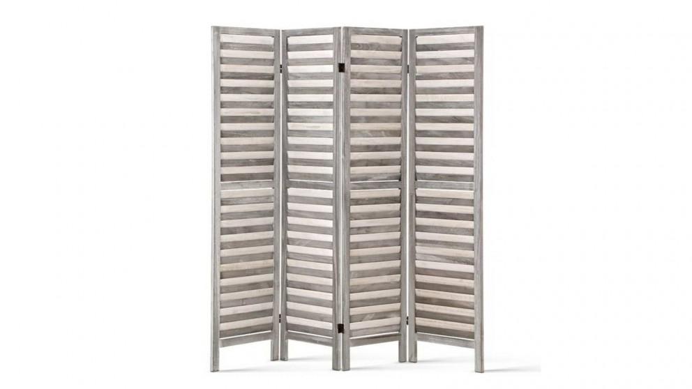 Artiss 4 Panel Room Divider Wooden - Grey