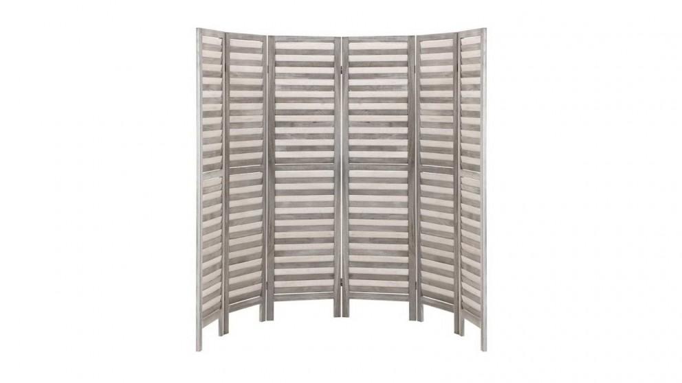 Artiss 6 Panel Room Divider Wooden - Grey