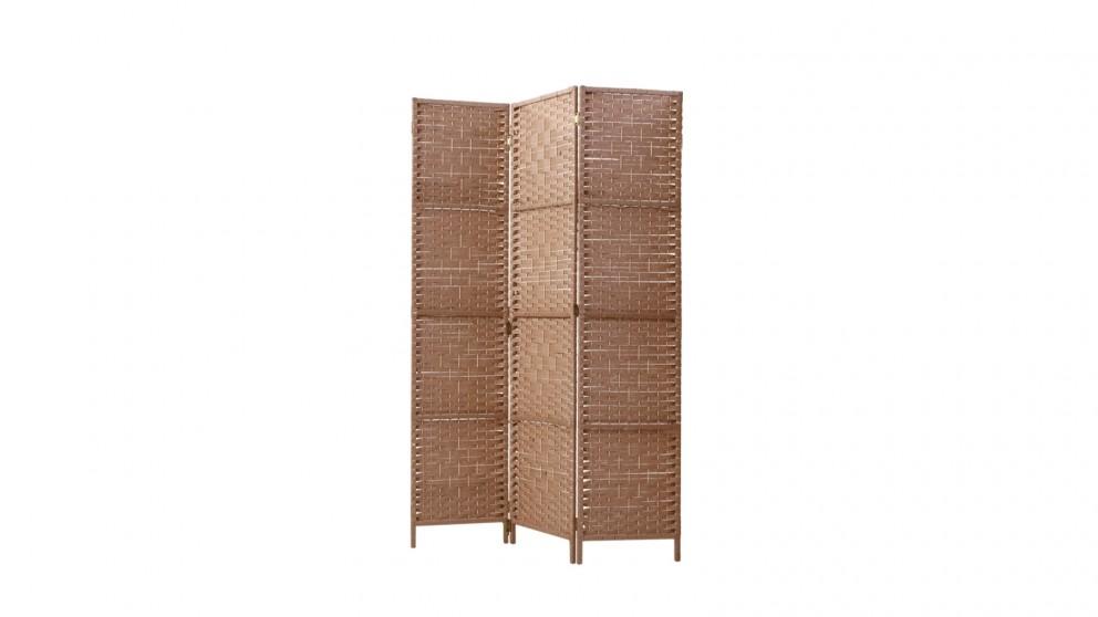 Artiss 3 Panel Room Divider Rattan - Natural