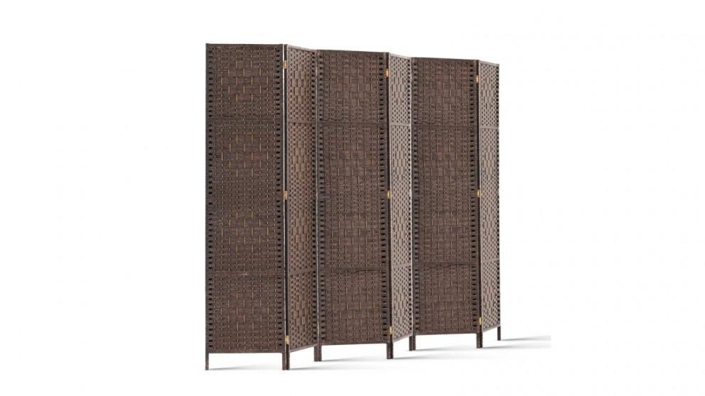 Artiss 6 Panel Room Divider Rattan - Brown