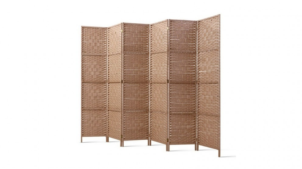 Artiss 6 Panel Room Divider Rattan - Natural