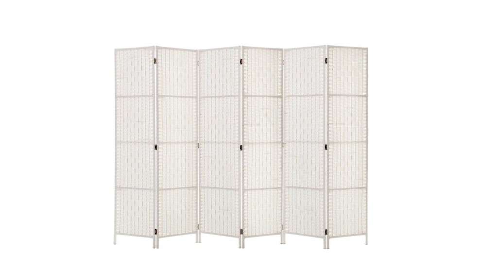 Artiss 6 Panel Room Divider Rattan - White