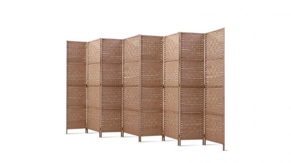 Artiss 8 Panel Room Divider Rattan - Natural