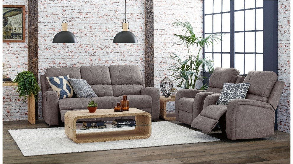 Max 3 Piece Fabric Recliner Lounge Suite