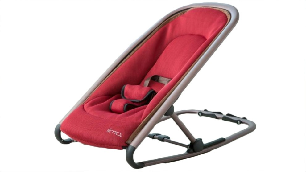 IIMO Rocking Chair Rosegold Frame - Red