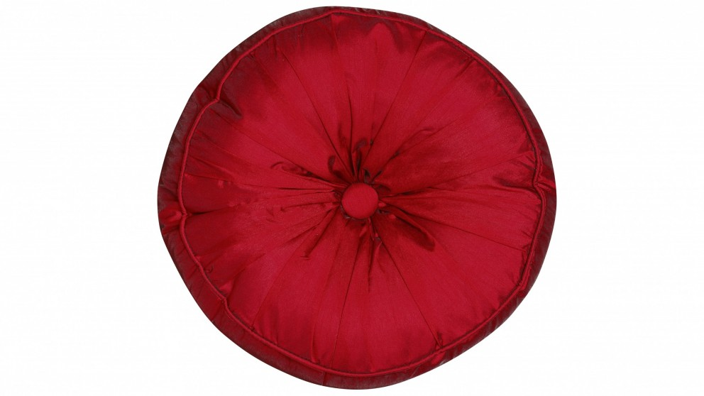 Lola Round Cushion - Raspberry