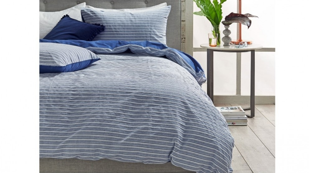 Renee Blue Queen Quilt Cover Set