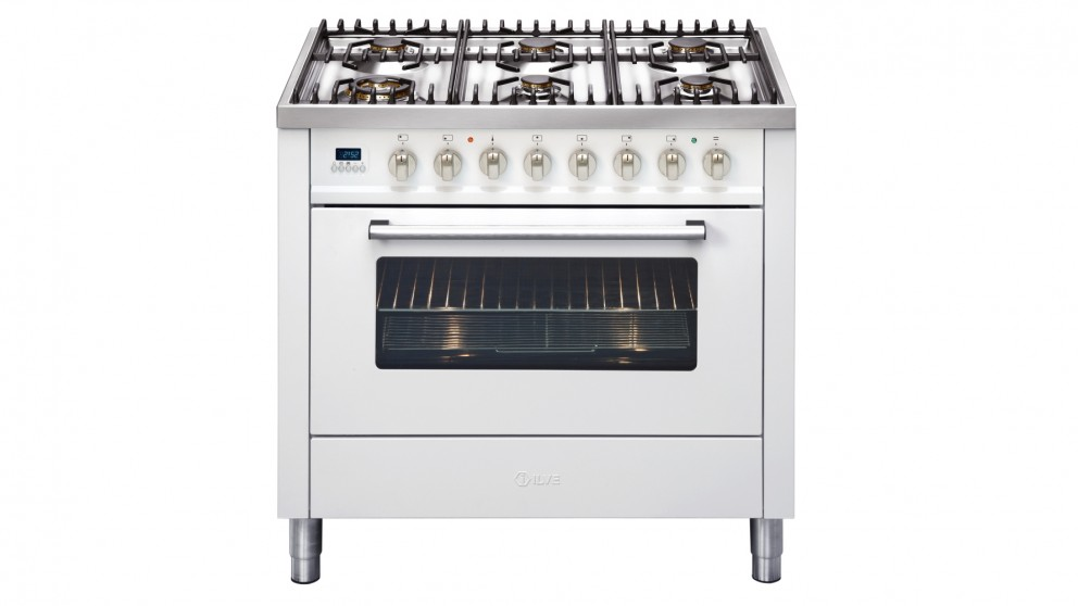 ILVE 900mm 6-Burner Freestanding Cooker - White