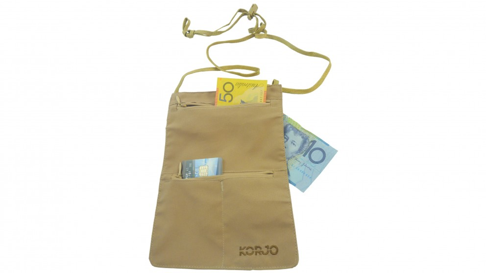 Korjo Money Pouch with RFID Blocking - Tan