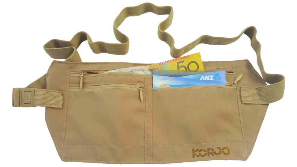 Korjo Money Belt with RFID Blocking - Tan