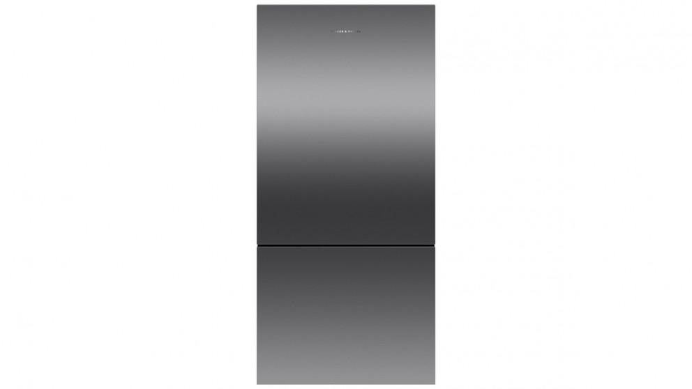 Fisher & Paykel 519L Pocket Handle Right Hinge Bottom Mount Fridge - Black Stainless Steel