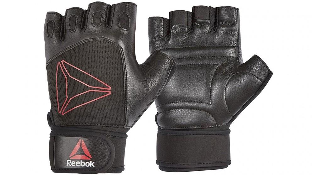Reebok Lifting Gloves Black Red