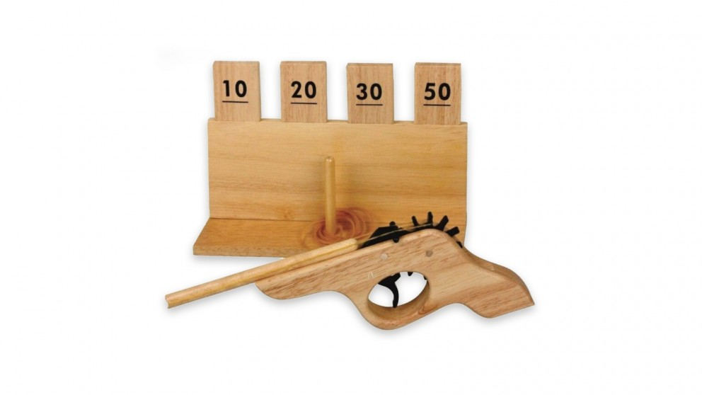 Robert Frederick Pyramid Games Wooden Shooting Game
